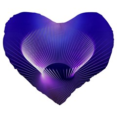 Lines Lights Space Blue Purple Large 19  Premium Heart Shape Cushions by Alisyart