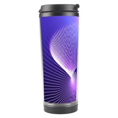 Lines Lights Space Blue Purple Travel Tumbler by Alisyart
