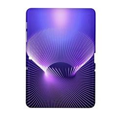 Lines Lights Space Blue Purple Samsung Galaxy Tab 2 (10 1 ) P5100 Hardshell Case  by Alisyart