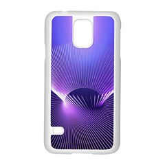 Lines Lights Space Blue Purple Samsung Galaxy S5 Case (white) by Alisyart