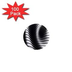 Metallic Waves 1  Mini Magnets (100 Pack)  by Alisyart