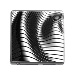 Metallic Waves Memory Card Reader (square) by Alisyart