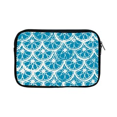 Lime Blue Star Circle Apple Ipad Mini Zipper Cases by Alisyart