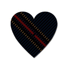 Material Design Stripes Line Red Blue Yellow Black Heart Magnet by Alisyart