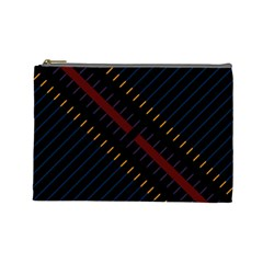 Material Design Stripes Line Red Blue Yellow Black Cosmetic Bag (large)  by Alisyart