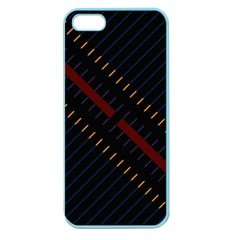 Material Design Stripes Line Red Blue Yellow Black Apple Seamless Iphone 5 Case (color) by Alisyart