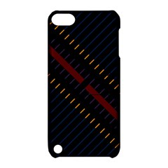 Material Design Stripes Line Red Blue Yellow Black Apple Ipod Touch 5 Hardshell Case With Stand by Alisyart