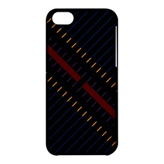 Material Design Stripes Line Red Blue Yellow Black Apple Iphone 5c Hardshell Case by Alisyart