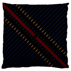 Material Design Stripes Line Red Blue Yellow Black Standard Flano Cushion Case (two Sides) by Alisyart