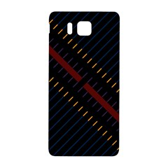 Material Design Stripes Line Red Blue Yellow Black Samsung Galaxy Alpha Hardshell Back Case by Alisyart