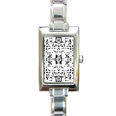 Nums Seamless Tile Mirror Rectangle Italian Charm Watch by Alisyart