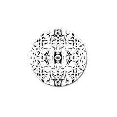 Nums Seamless Tile Mirror Golf Ball Marker by Alisyart