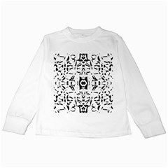 Nums Seamless Tile Mirror Kids Long Sleeve T Shirts by Alisyart