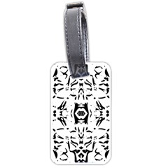 Nums Seamless Tile Mirror Luggage Tags (one Side)  by Alisyart