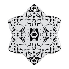 Nums Seamless Tile Mirror Snowflake Ornament (two Sides) by Alisyart