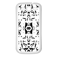 Nums Seamless Tile Mirror Samsung Galaxy S3 Back Case (white) by Alisyart