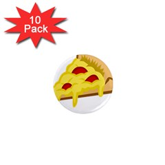 Pasta Salad Pizza Cheese 1  Mini Magnet (10 Pack)  by Alisyart
