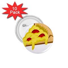 Pasta Salad Pizza Cheese 1 75  Buttons (10 Pack) by Alisyart