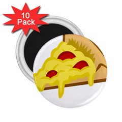Pasta Salad Pizza Cheese 2 25  Magnets (10 Pack)  by Alisyart