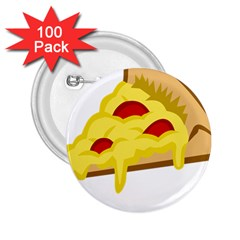 Pasta Salad Pizza Cheese 2 25  Buttons (100 Pack)  by Alisyart