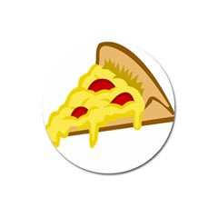 Pasta Salad Pizza Cheese Magnet 3  (round) by Alisyart