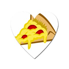Pasta Salad Pizza Cheese Heart Magnet by Alisyart