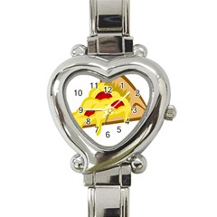 Pasta Salad Pizza Cheese Heart Italian Charm Watch by Alisyart