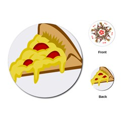 Pasta Salad Pizza Cheese Playing Cards (round)  by Alisyart