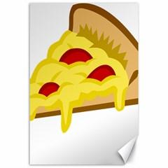 Pasta Salad Pizza Cheese Canvas 24  X 36  by Alisyart