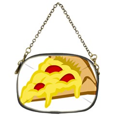 Pasta Salad Pizza Cheese Chain Purses (two Sides)  by Alisyart