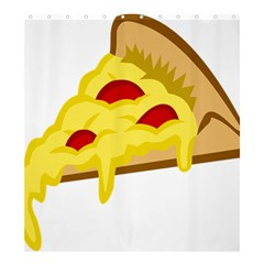 Pasta Salad Pizza Cheese Shower Curtain 66  X 72  (large)  by Alisyart