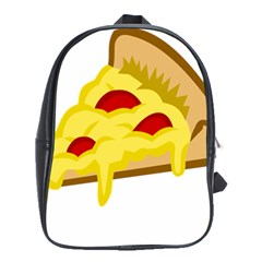 Pasta Salad Pizza Cheese School Bags(large)  by Alisyart