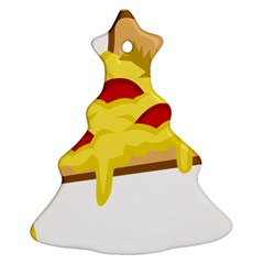 Pasta Salad Pizza Cheese Christmas Tree Ornament (two Sides) by Alisyart