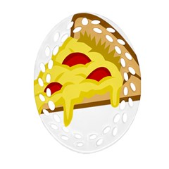 Pasta Salad Pizza Cheese Oval Filigree Ornament (two Sides) by Alisyart