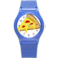 Pasta Salad Pizza Cheese Round Plastic Sport Watch (s) by Alisyart