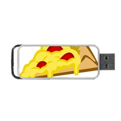 Pasta Salad Pizza Cheese Portable Usb Flash (two Sides) by Alisyart