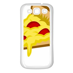Pasta Salad Pizza Cheese Samsung Galaxy S3 Back Case (white) by Alisyart