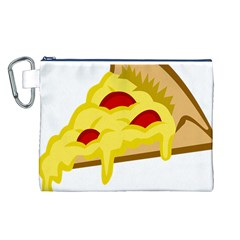 Pasta Salad Pizza Cheese Canvas Cosmetic Bag (l) by Alisyart