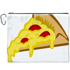 Pasta Salad Pizza Cheese Canvas Cosmetic Bag (xxxl) by Alisyart