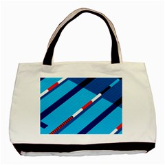 Minimal Swim Blue Illustration Pool Basic Tote Bag by Alisyart