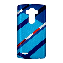 Minimal Swim Blue Illustration Pool Lg G4 Hardshell Case by Alisyart
