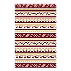 Pattern Tribal Triangle Shower Curtain 48  X 72  (small)  by Alisyart