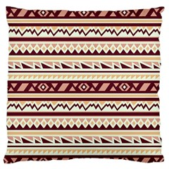 Pattern Tribal Triangle Large Flano Cushion Case (two Sides) by Alisyart