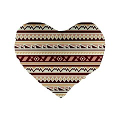 Pattern Tribal Triangle Standard 16  Premium Flano Heart Shape Cushions by Alisyart