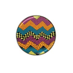 Painted Chevron Pattern Wave Rainbow Color Hat Clip Ball Marker (10 Pack) by Alisyart