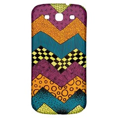 Painted Chevron Pattern Wave Rainbow Color Samsung Galaxy S3 S Iii Classic Hardshell Back Case by Alisyart