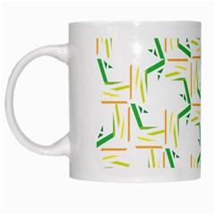 Patterns Boomerang Line Chevron Green Orange Yellow White Mugs by Alisyart