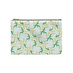Patterns Boomerang Line Chevron Green Orange Yellow Cosmetic Bag (medium)  by Alisyart