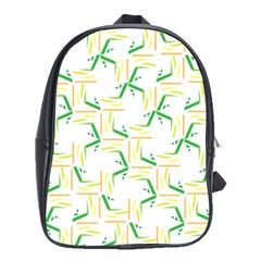 Patterns Boomerang Line Chevron Green Orange Yellow School Bags(large)  by Alisyart