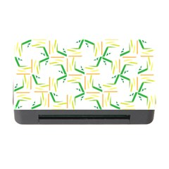 Patterns Boomerang Line Chevron Green Orange Yellow Memory Card Reader With Cf by Alisyart